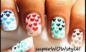 Ombre Hearts - Using Toothpick Only !  (easy nail designs)