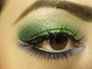 greens and purples