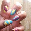 Color Block Nails