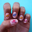 Unicorn-pegasus nail art decals