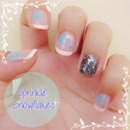 Sprinkle Snowflakes Nails