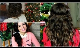 NO HEAT Holiday curls + Easy Hairstyles!
