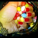 Candy Red Nails and Candy :)