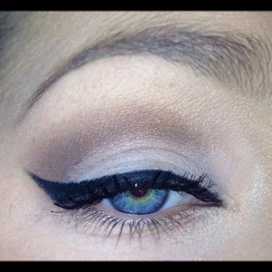 Very natural everyday eye makeup