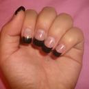 Plain black tips