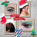 Christmas makeup and hair