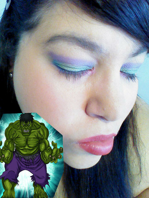 created colors from the mighty hulk, purple and green