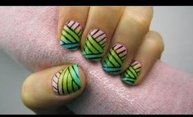 Weaved Nail Art