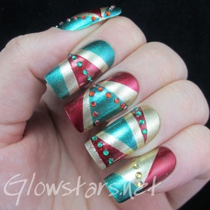 Read the blog post at http://glowstars.net/lacquer-obsession/2013/12/the-digit-al-dozen-does-red-gold-and-green-all-in-one-post-and-rather-late/