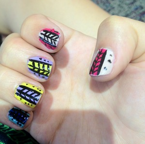 Simple and quick tribal nails