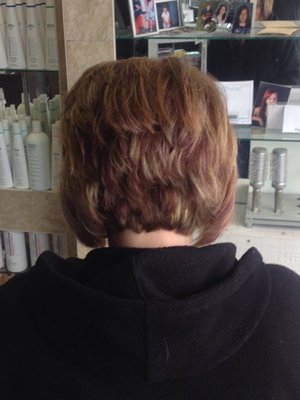Highlights haircut and Hair color by Christy Farabaugh