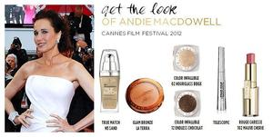 Billy B created this look for Andie Macdowell for the Red Carpet of The Cannes Film Festival 2012