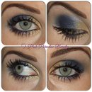 Blue & Gold Wearable Eye Look