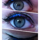 Purple and blue eyeliner