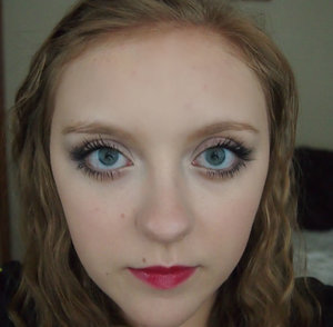 This is my makeup for a red lip and I have been experimenting a bit more since this photo and found an amazing color and way to apply it.
