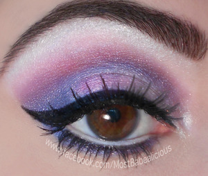Bfte in Raspberry & Crystal. Urban Decay in Polyester Bride & original eye primer, Madd Style Cosmetics in Foux du Fafa, NYX black liquid eyeliner, Jordana white pencil liner, Mega Plush mascara by Maybelline & false lashes by Katy Perry's line in Cool Kitty.