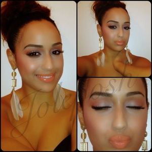 Makeup of the day. Ladies, follow me on Instagram to see more of my makeup looks & request tutorials! ;)   http://Instagram.com/Joleposh  http://YouTube.com/Joleposh http://Facebook.com/Joleposh