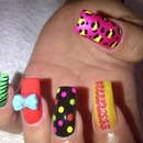 Multi patterned nails... Groovy :)