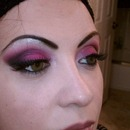 Hot pink with cut crease