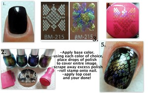 full tutorial here-http://www.thepolishedmommy.com/2012/08/how-to-create-multi-colored-stamps.html