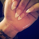 French Heart Tip Stiletto Nails