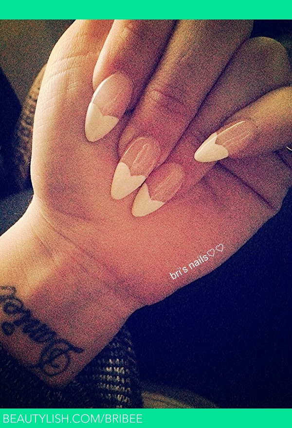 French Heart Tip Stiletto Nails | Brittany G.\'s (bribee) Photo ...