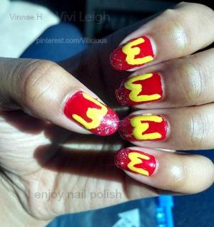 ALL the nail polishes used were: Zoya America, Hard Candy Splendid & Wet n Wild Kaleidoscope.