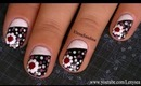 Easy Flower and Polka Dots Nail Design