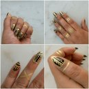 Black & Gold Tribal Art