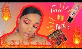 Fierce By Nature Morphe Palette | Red and Orange Halo Eyeshadow | leiydbeauty