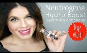 Is it a dupe?  Neutrogena Hydro Boost Concealer vs. Benefit Fake Up Concealer | @girlythingsby_e