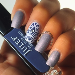 """I love the texture of the Layla """"Romantic Lavender"""" soft touch polish!"""