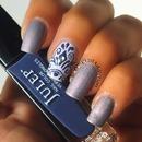Purple Damask Nails