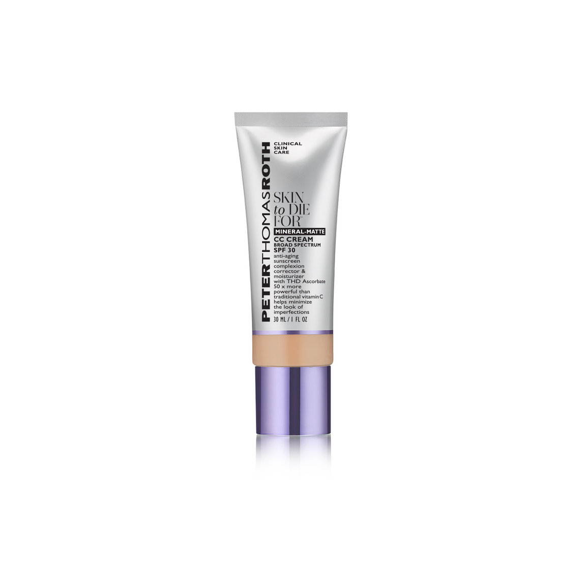 Peter Thomas Roth Skin To Die For Mineral-Matte CC Cream SPF 30 Light product smear.