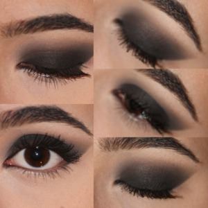 A soft smokey eye.