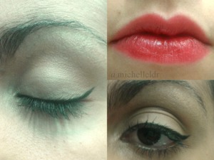 this is a photo of my makeup last night! sorry for the bad colour skin, the lights in the place I was weren't that good!