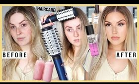 trying a $200 blow dry hair tool 😱 & my favourite HAIRCARE routine!