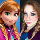Frozen Princess Anna Halloween Makeup Tutorial