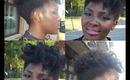 Coiffure facile effet Vintage sur Cheveux Crepus