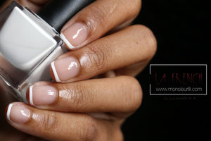 Basics are Classics !  You can check out my youtube account https://www.youtube.com/watch?v=l6n-z823LHw to see how to achieve this express manicure or take a look at my website  http://www.monsieurlili.com/la-french-express