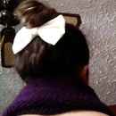 Top knot with a bow