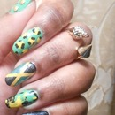 Jamaican Mix & Match Nails