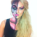 Glam Skull Halloween Makeup