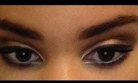 shimmery smokey eye tutorial ft too faced semi sweet chocolate bar and too faced  chocolate bar
