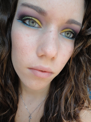 inspired by xsparkage purple and green inglot look