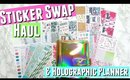Etsy Planner Sticker Shop Haul & NEW Gold Holographic Planner