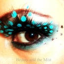Eye make up and feather lashes