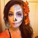 Candyskull Halloween makeup