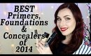 Best Primers, Foundations & Concealers from 2014. (Giveaway Winners)