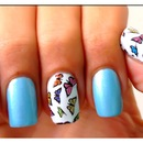 Butterfly Print Nail Design
